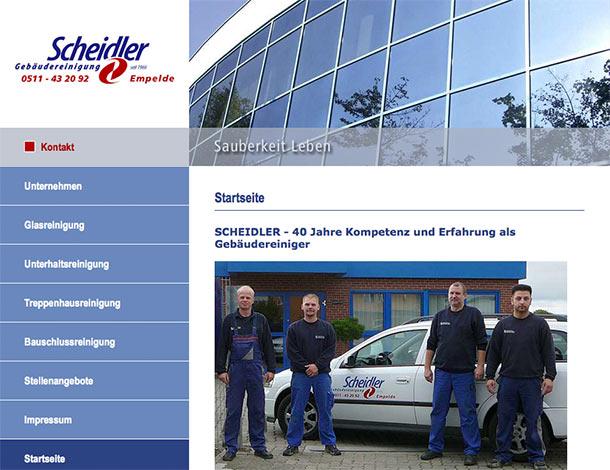 Website Gebäudereinigung Scheidler